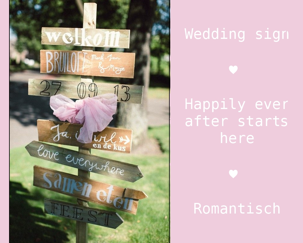 Styling tip: Wedding sign